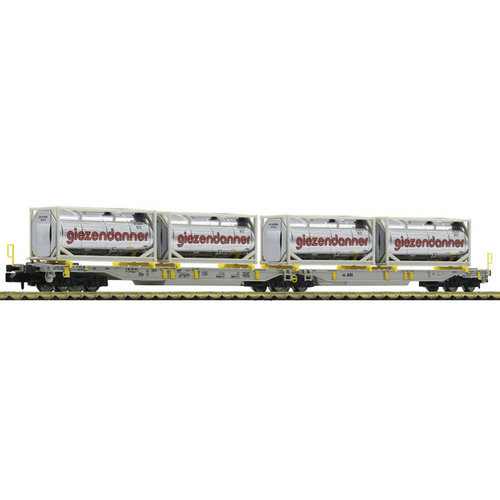 FLEISCHMANN 825009 Gelede dubbele Vrachtwagentrailerwagon, AAE (N )