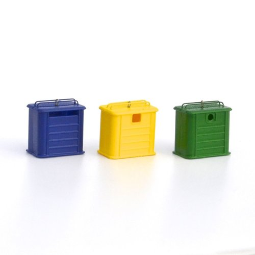 N-Train 3 recycling containers - Metallic-type (212.47)