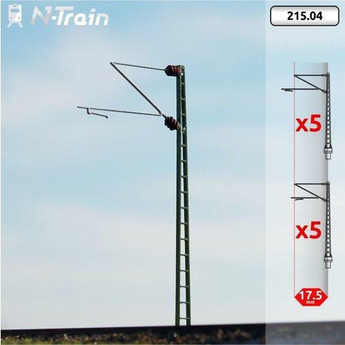 N-Train DB - Rooster mast met Re160 beugel - S (10 stuks) (215.04)