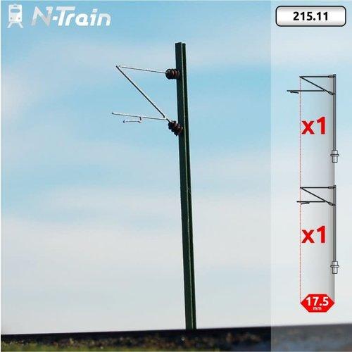 N-Train DB - H-profiel mast met Re160 beugel - S (2 stuks) (215.11)