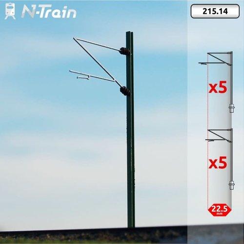 N-Train DB - H-profiel mast met Re160 beugel - M (10 stuks) (215.14)