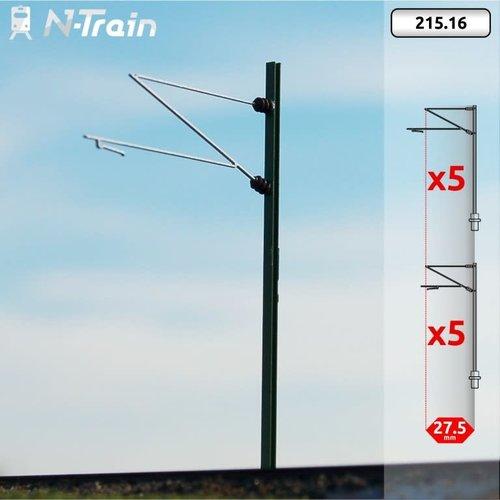 N-Train DB - H-profiel mast met Re160 beugel - L (10 stuks) (215.16)