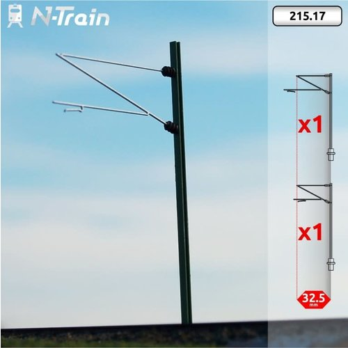 N-Train DB - H-profiel mast met Re160 beugel - XL (2 stuks) (215.17)