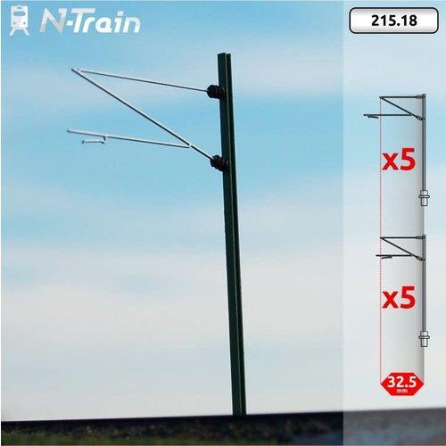 N-Train DB - H-profiel mast met Re160 beugel - XL (10 stuks) (215.18)