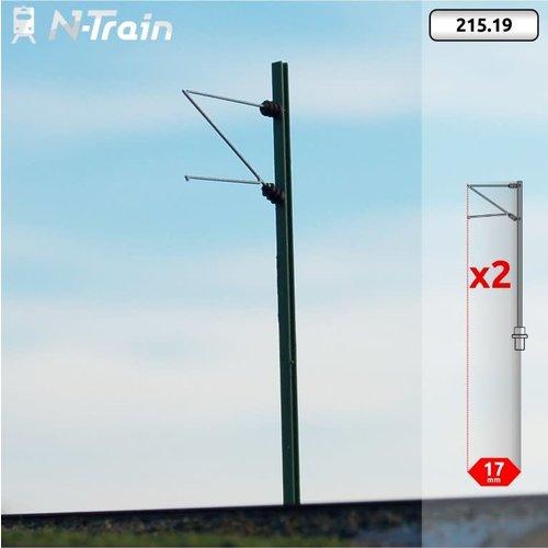 N-Train DB - H-profiel mast met Re75 beugel - (2 stuks) (215.19)