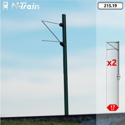 N-Train DB - H-profile mast with Re75 bracket - (2 pieces) (215.19)