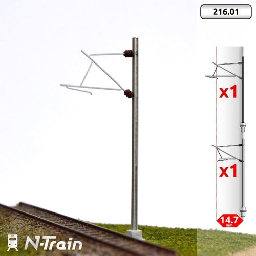 N-Train SNCF - H-profile mast with 25kV bracket - S (2 pieces) (216.01)