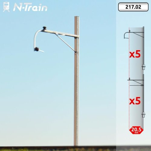 N-Train SBB - H-profile mast with old bracket (10 pieces) (217.02)