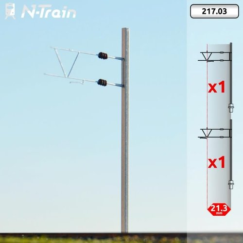 N-Train BLS - H-profiel mast met oude beugel (2 stuks) (217.03)