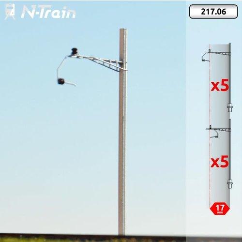 N-Train SBB - H-profile mast with Gotthard bracket - S (10 pieces) (217.06)