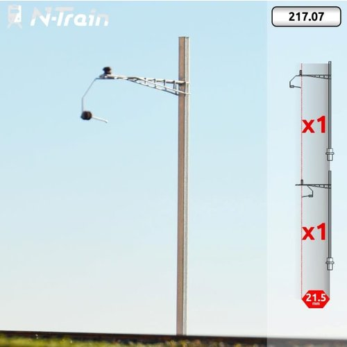 N-Train SBB - H-profile mast with Gotthard bracket - M (2 pieces) (217.07)