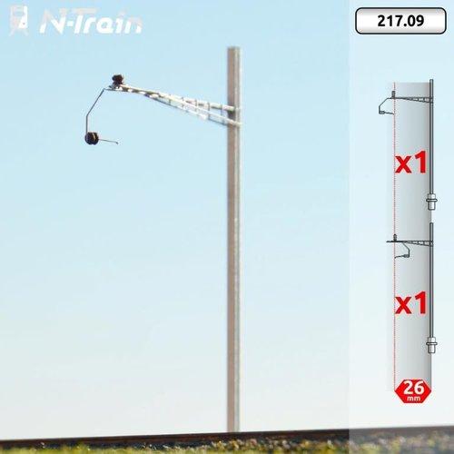 N-Train SBB - H-profiel mast met Gotthard beugel - L (2 stuks) (217.09)