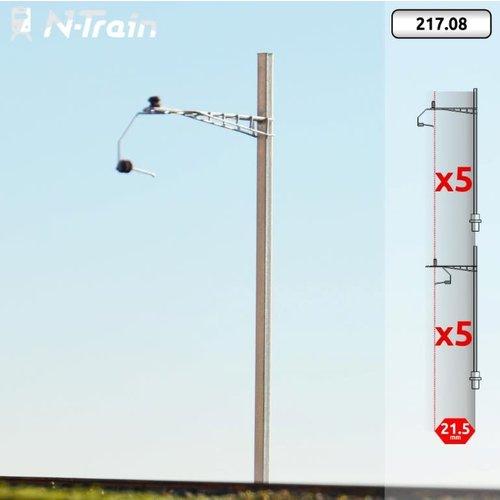 N-Train SBB - H-profile mast with Gotthard bracket - M (10 pieces) (217.08)