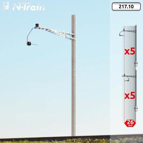 N-Train SBB - H-profile mast with Gotthard bracket - L (10 pieces) (217.10)
