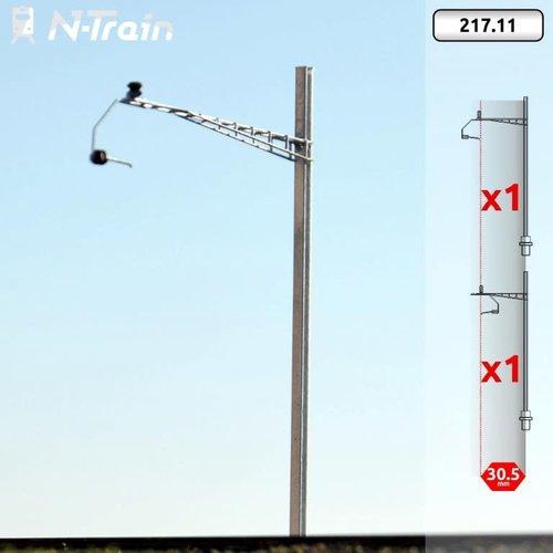 N-Train SBB - H-profile mast with Gotthard bracket - XL (2 pieces) (217.11)