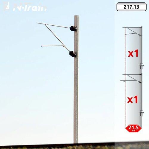 N-Train SBB - H-profile mast with FL-140 bracket - S (2 pieces) (217.13)