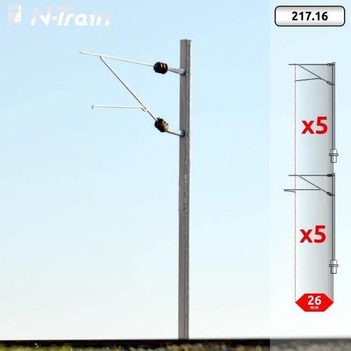 N-Train SBB - H-profiel mast met FL-140 beugel - M (10 stuks) (217.16)