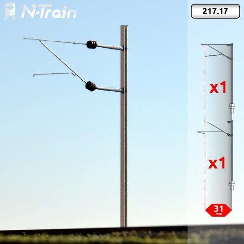 N-Train SBB - H-profiel mast met FL-140 beugel - L (2 stuks) (217.17)