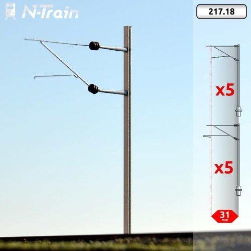 N-Train SBB - H-profile mast with FL-140 bracket - L (10 pieces) (217.18)