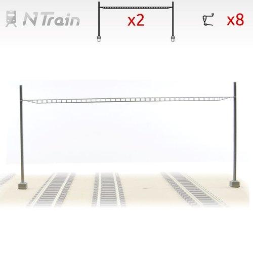 N-Train SBB - Cross span bridge voor 2-4 sporen (2 units) (217.22)