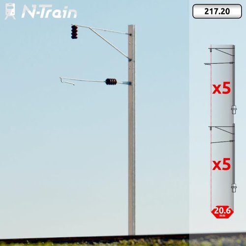 N-Train BLS - H-profile mast with bracket (10 pieces) (217.20)