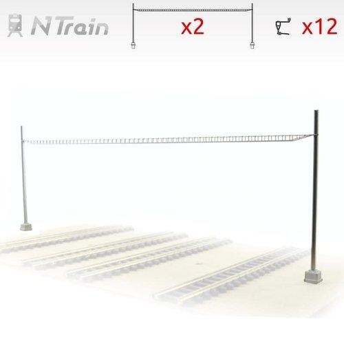 N-Train SBB - Cross span bridge for 4-6 tracks (2 units) (217.23)