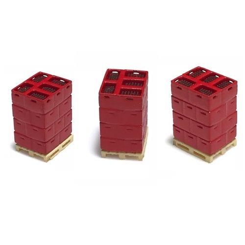 N-Train 3 pallets met flessenboxen - rood (211009)
