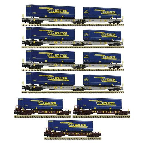 FLEISCHMANN 825017 7 stuks. Display: vrachtwagon Walter, AAE (N )