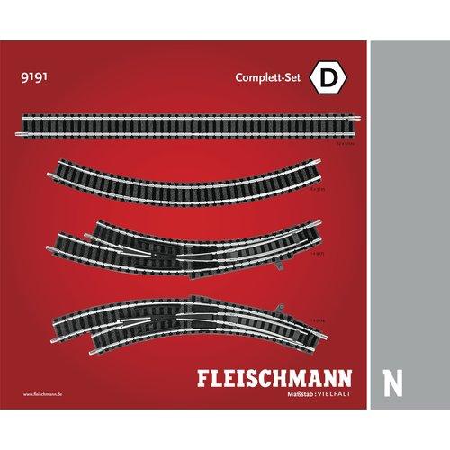 FLEISCHMANN 9191 Railuitbreidingsset D (N Profi)