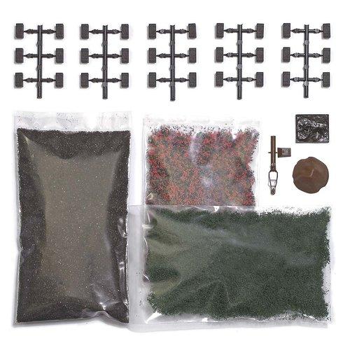 BUSCH 1251 TORFBALLEN-SET/MOORLEICHE H0