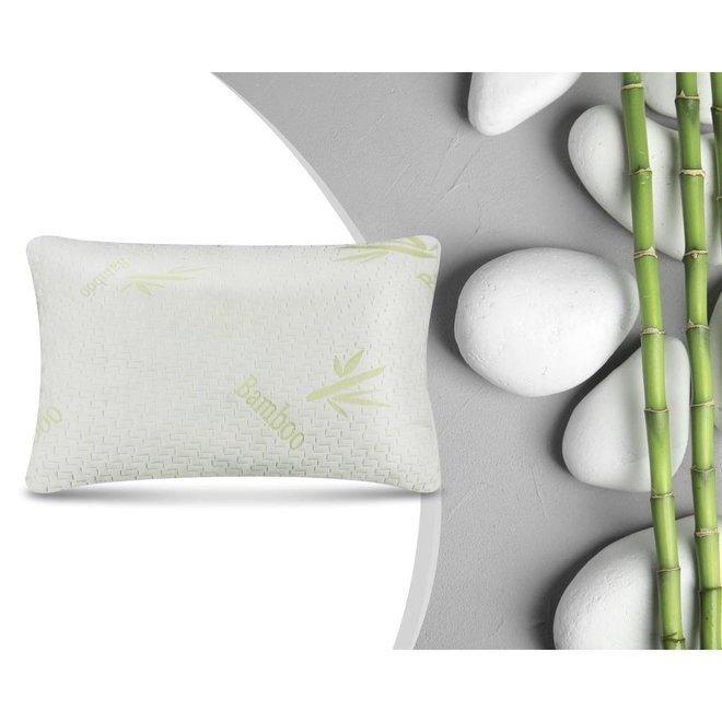 Bamboo Memory Foam Hoofdkussen Wit