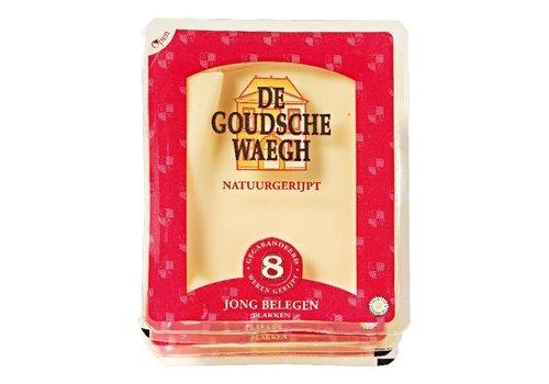 De Goudsche Waegh Jong belegen kaas gesneden