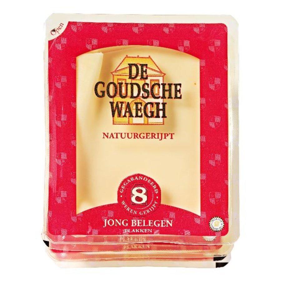 De Goudsche Waegh Jong belegen kaas gesneden-1