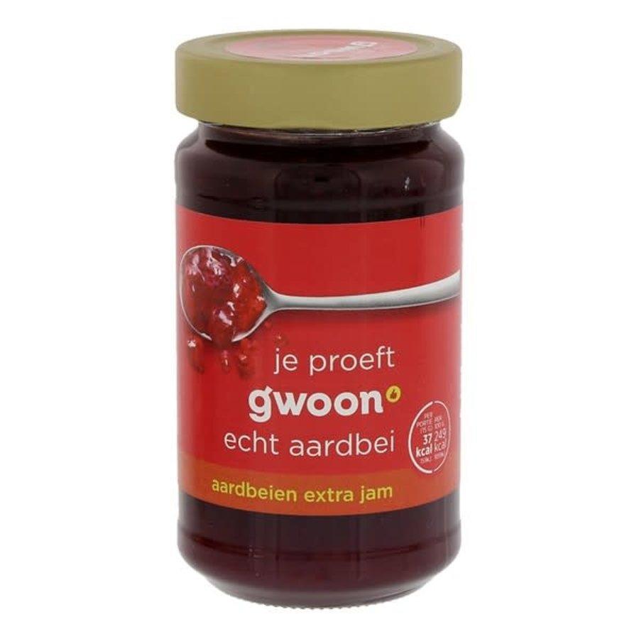 G'woon Aardbeienjam 400g-1