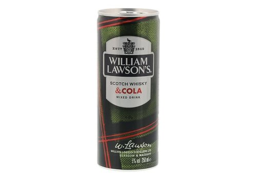 William Lawson's Scotch Whisky & Cola 25cl