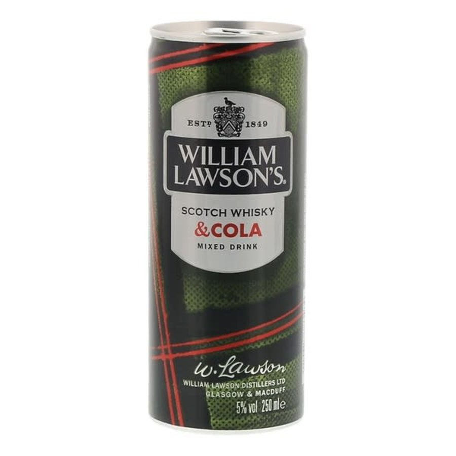 William Lawson's Scotch Whisky & Cola 25cl-1