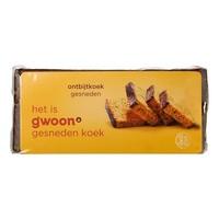 G'woon Ontbijtkoek naturel gesneden