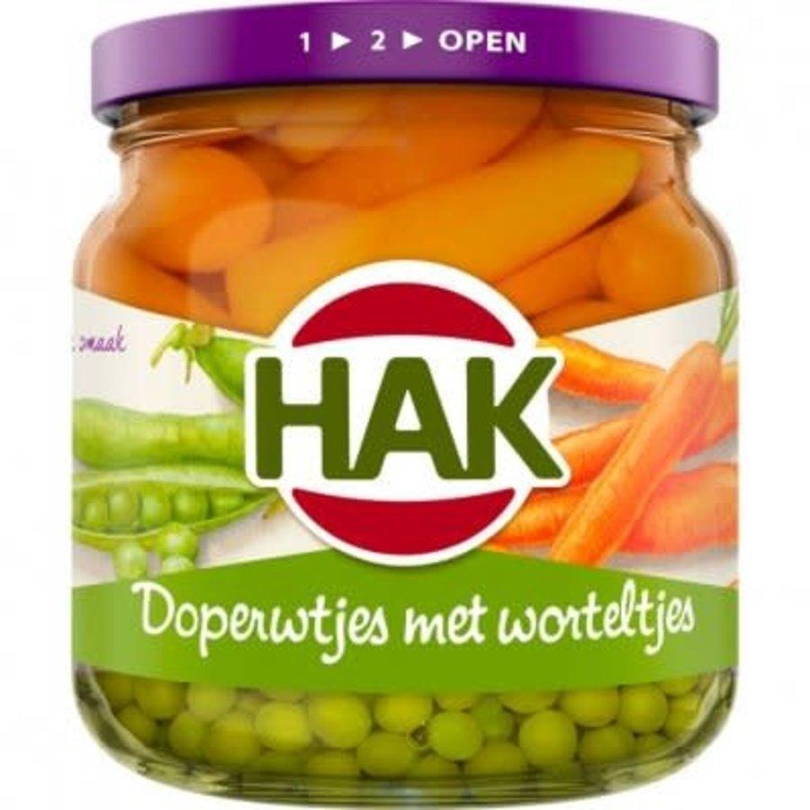 Hak Doperwten en wortelen Extra fijn-1