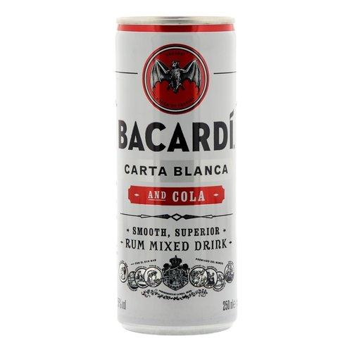 Bacardi Rum cola blik 250 ml