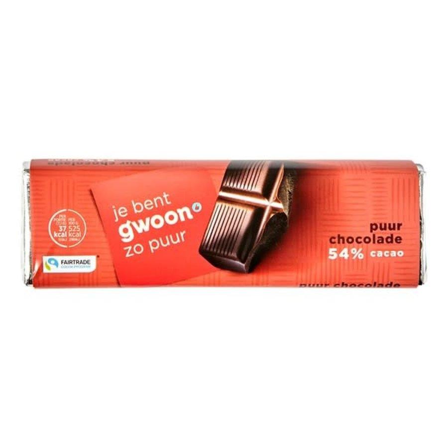 G'woon Chocoladereep puur, fair trade-1