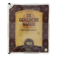 De Goudsche Waegh Oude kaas gesneden