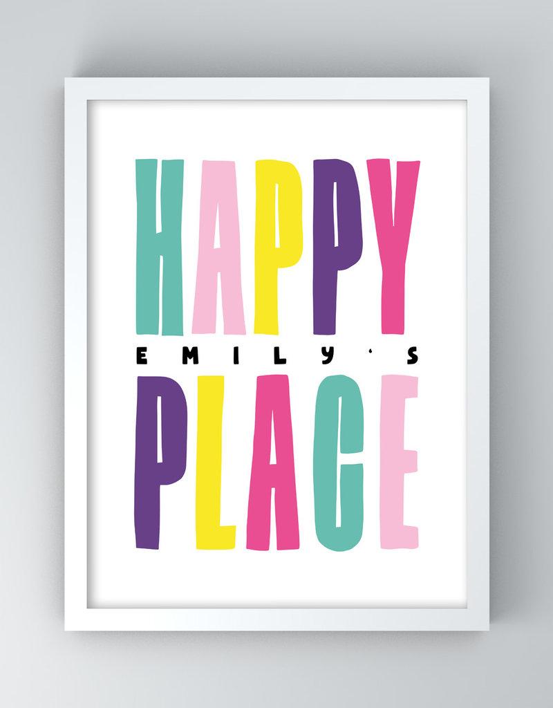 My Happy Place für Mädchen, 12x12cm