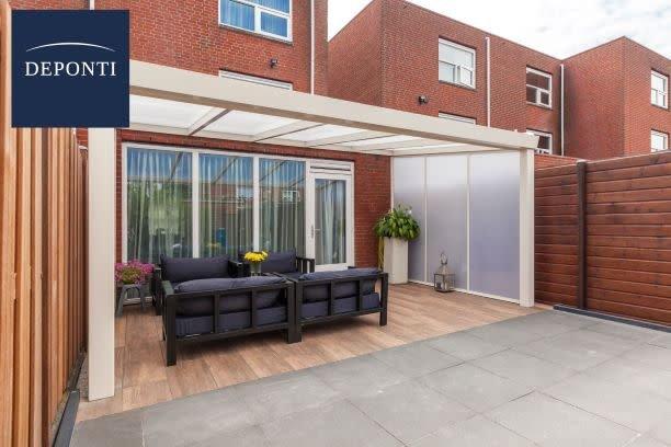 Actie veranda Giallo polydak 406x350 incl. montage
