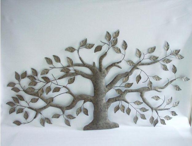 Wanddecoratie olijfboom 110 x 55cm