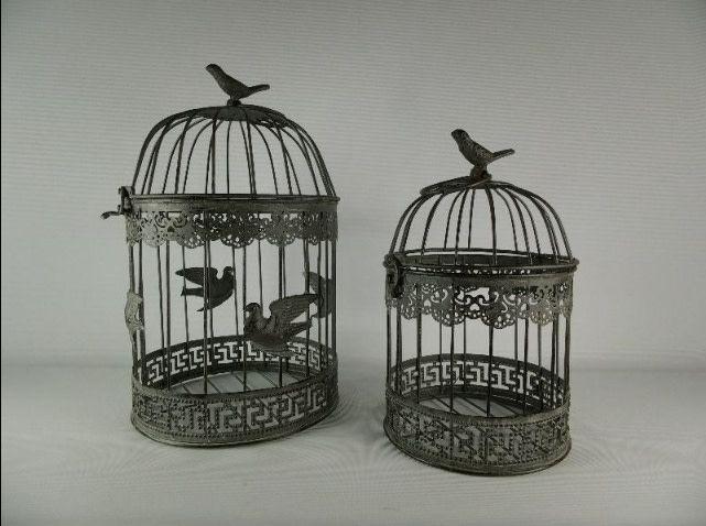 vogelkooitjes stel 17 en 40cm H