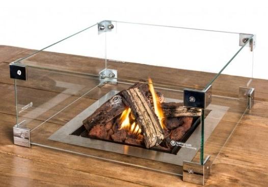 glasombouw voor inbouwbrander vierkant