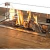 glasombouw voor inbouwbrander rechthoek klein