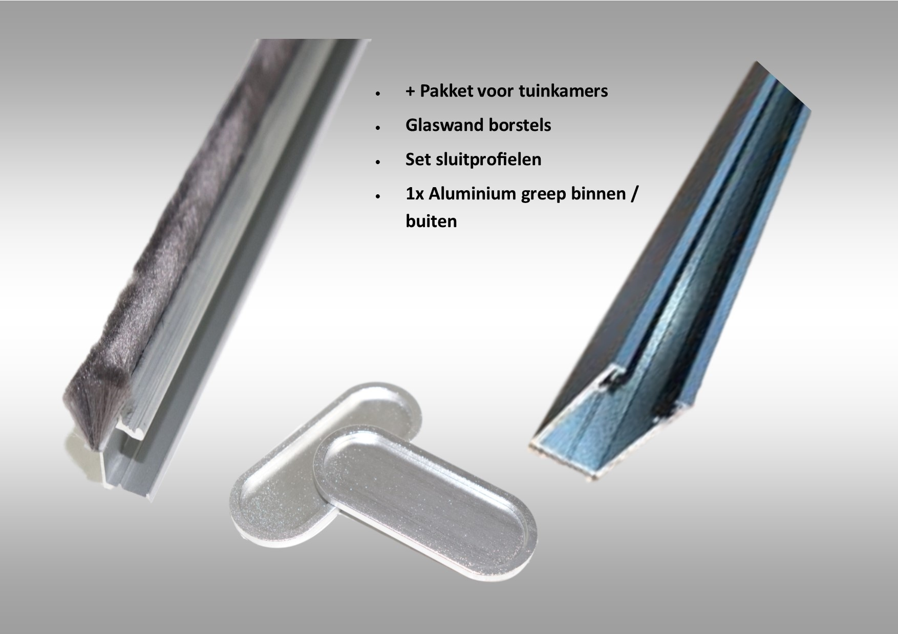 Glasschuifwand 6060 / 6 x 980cm