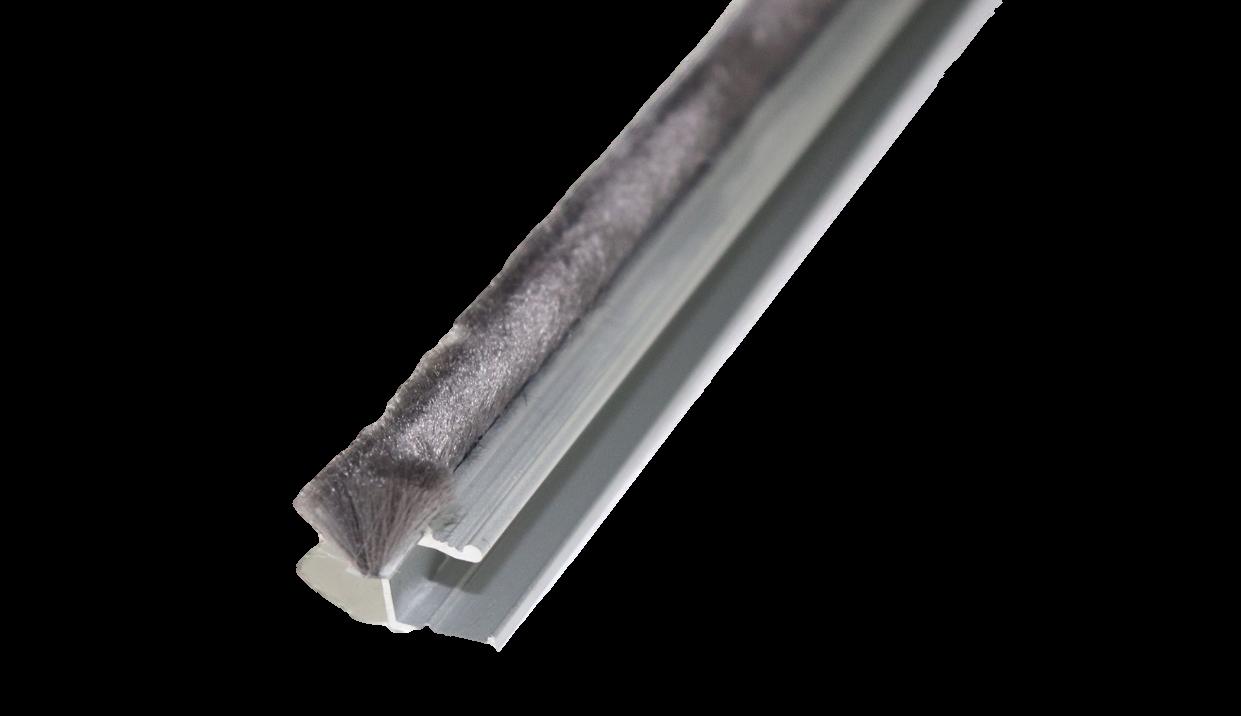 Glasschuif zijwand + poly spie incl. montage  3000mm / 4 x 820
