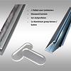 Glasschuif zijwand + poly spie incl. montage  2500mm / 3 x 980